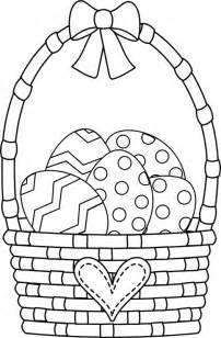 easter basket coloring pages clipart