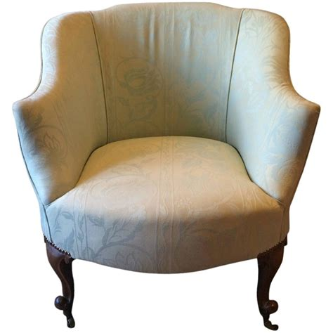 vintage armchair with wheels antique edwardian tub chair armchair early 20th century