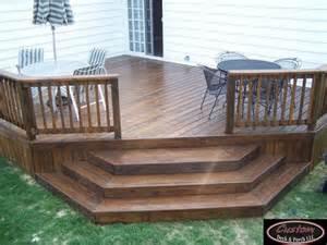 Wooden Patio Deck by Wood Decks