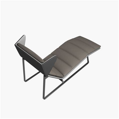 modern chaise chair esedra romea modern chaise lounge 3d model max obj 3ds fbx