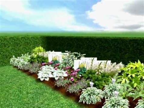 free garden plans shady garden planting border plan