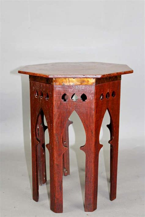 arts and crafts table ls moorish arts and crafts oak occasional l table