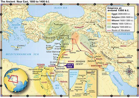 map of ancient near east journeys of isaac n53