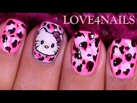 imagenes de uñas de hello kitty how to paint hello kitty nail art design tutorial