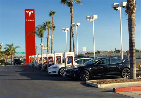 tesla orange county tesla buena park supercharger will connect oc with