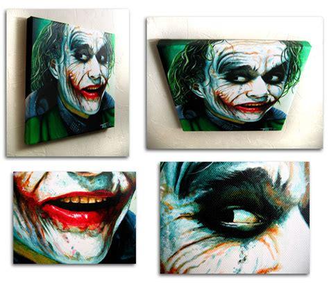 acrylic painting of joker painting joker trevmurphy