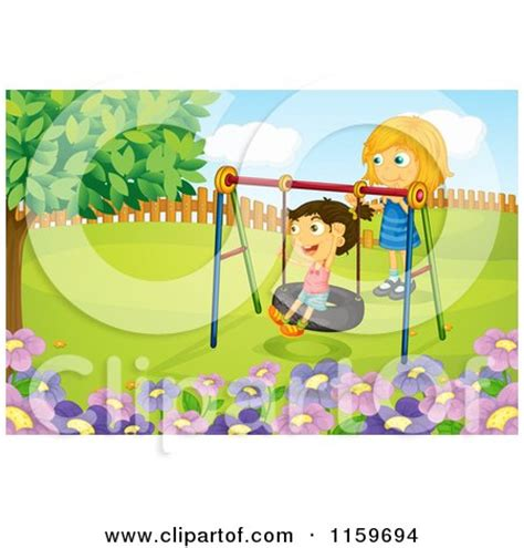 tire swing cartoon the gallery for gt playground merry go round clipart