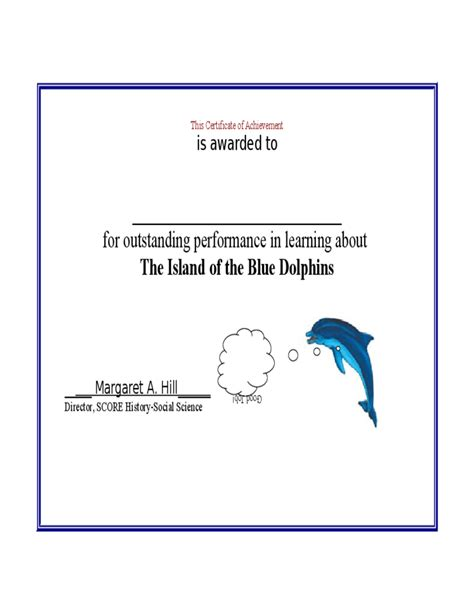 basic certificate of achievement template free download