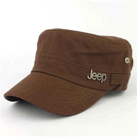 jeep hat jeep casual sun hat flat cap adjustable military style