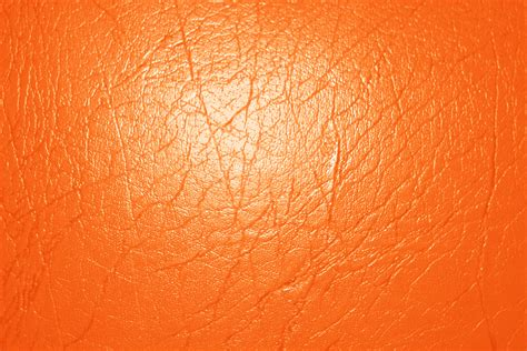 Orange Leather by Bright Orange Leather Texture Picture Free Photograph