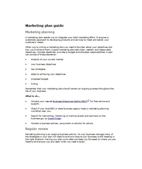 33 Free Professional Marketing Plan Templates Free Template Downloads Marketing Plan Outline Template