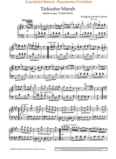 tutorial piano turkish march turkish march from sonata kv 331 sheet music by wolfgang
