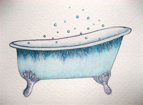 Bathtub Drawings september 17 2011 blue bathtub a drawing a day for a year