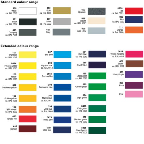 Leyland mini colour chart colouring pages page 2