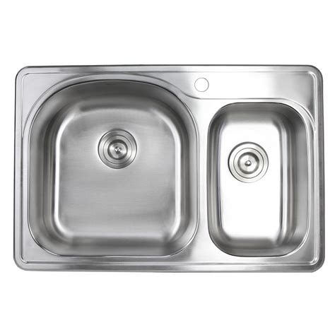 30 drop in sink 33 inch top mount drop in stainless steel 70 30