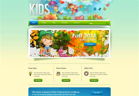 website templates for children s books 20 kid s wordpress themes webdesigner depot