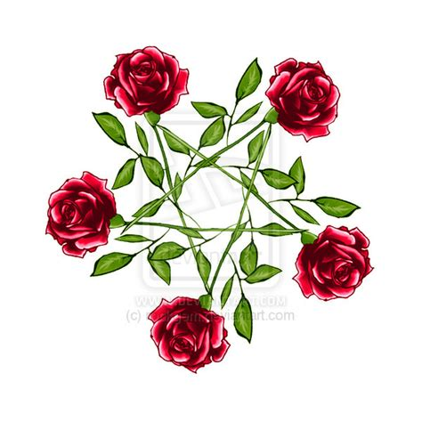 rose pentagram colour by rockgem on deviantart