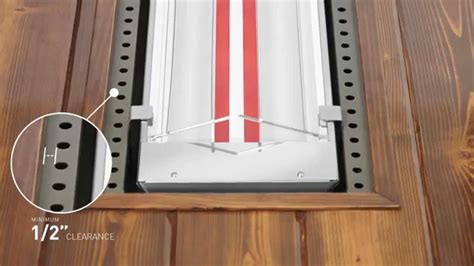 infratech comfort how to flush mount an infratech w series or wd series