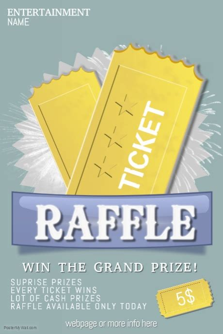 raffle giveaway ticket poster flyer template postermywall