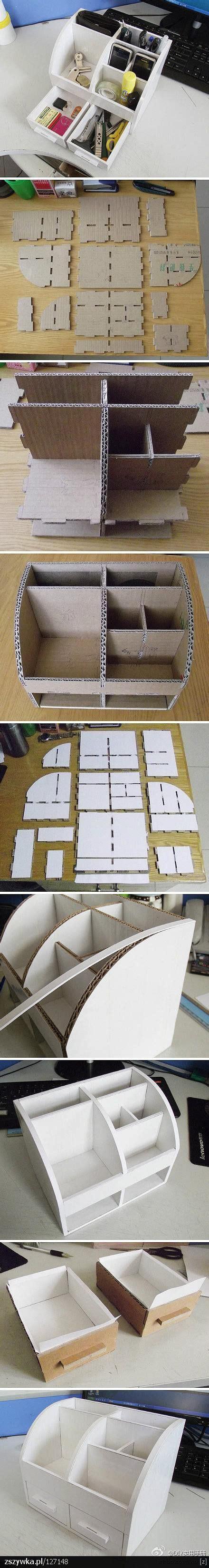 Diy Cardboard Desk Organizer by Diy Cardboard Desk Organizer Diy Paper Cardboard