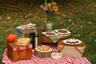 autumn picnic in the park whole green love