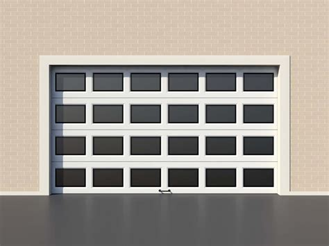 white modern garage door with windows garage service