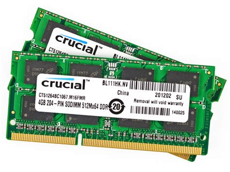 macbook pro 13 quot unibody early 2011 ram installation crucial