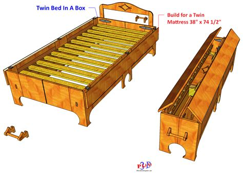 bed plans 142 folding bed formerly bed in a box 3d woodworking plans