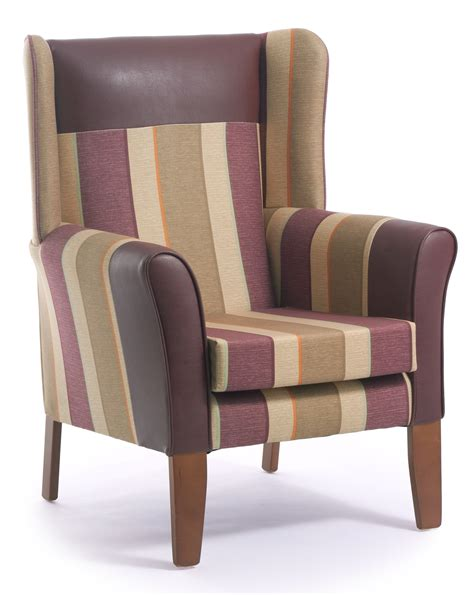 high back armchairs sherwood high back armchair with wings cfs contract