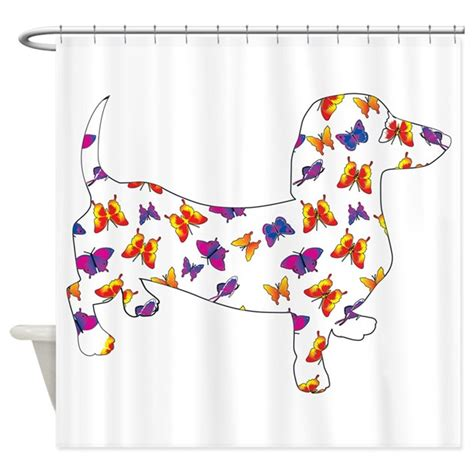 dachshund shower curtain butterfly doxie dachshund shower curtain by doggietease
