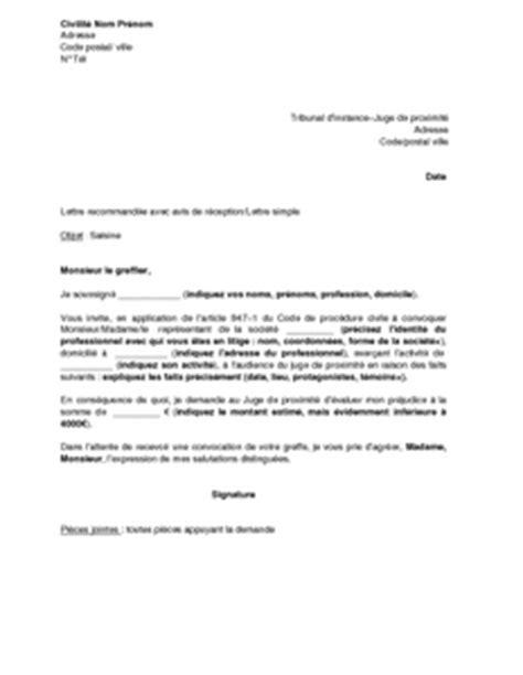 Exemple De Lettre Pour Un Juge Modele Lettre Juge Des Tutelles
