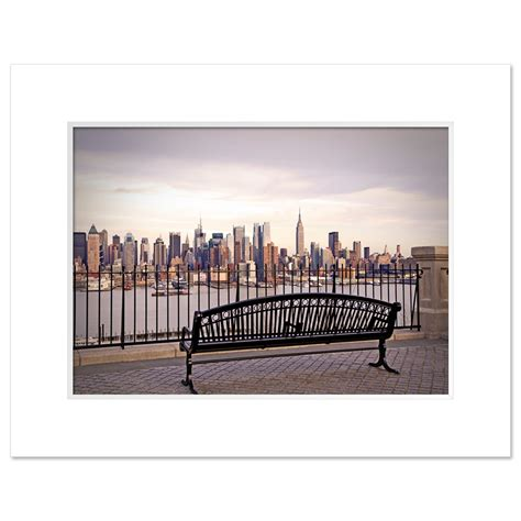bench nyc view from bench at midtown manhattan new york art print mp 2132 ny christmas gifts