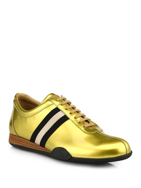 mens bally sneakers bally freenew sneakers in metallic for lyst