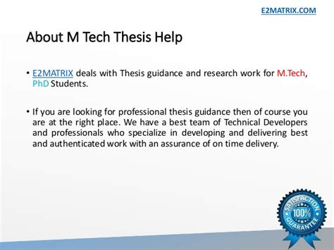 m tech dissertation m tech thesis help in bathinda