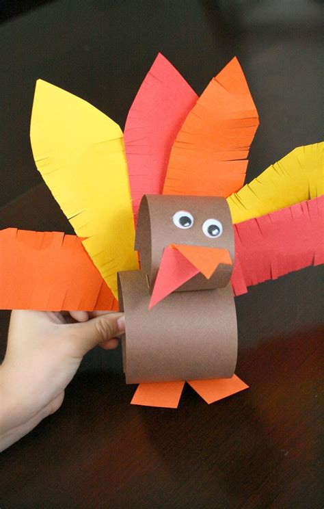 Thanksgiving Paper Crafts For - paper roll thanksgiving turkey craft fantastic