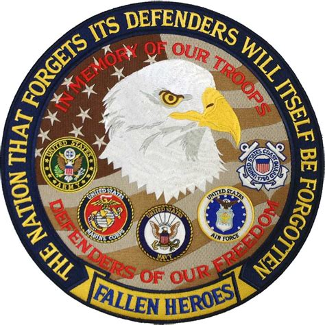Remembrance Dog Tags Military Memorial 12 Quot Jacket Patch Fallen Heroes