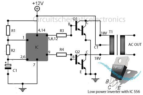 6v to 220v inverter circuit diagram inverter 12v to 115v with 25 w power output circuit