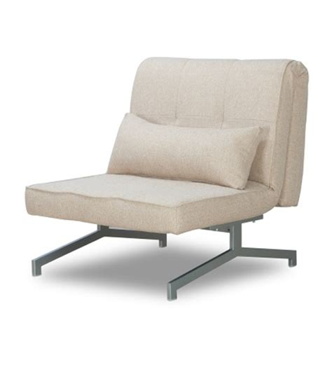Single Chair Sofa Bed by Compact And Foldable Beige Single Sofa Bed By