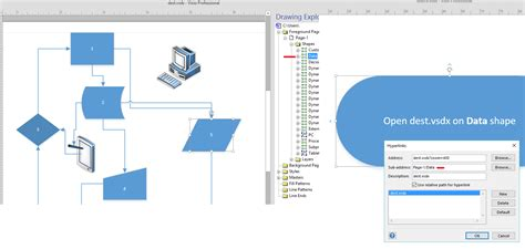 visio 2013 link hyperlink link to visio shape from sharepoint 2013 list