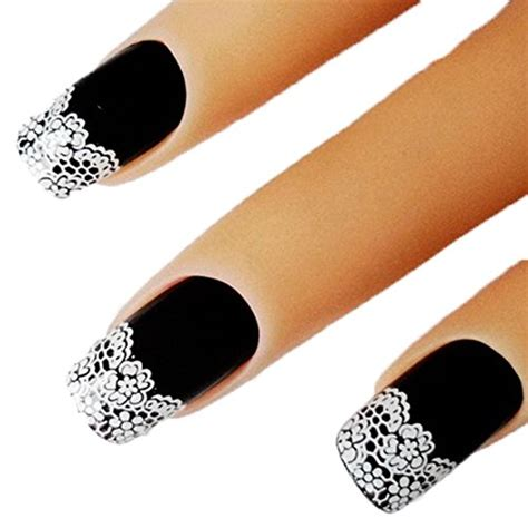 Nail Sticker Import 2 bhbuy 2 sheets sweet white lace 3d nail stickers