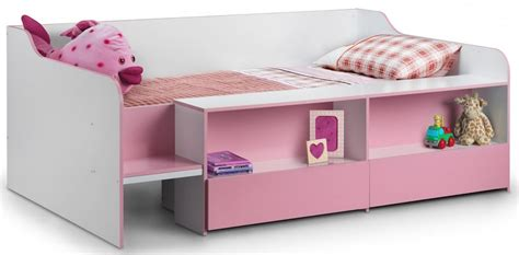 space saving bed frame space saving low sleeper childs bed frame with shelves and