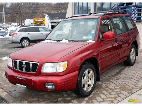red subaru forester 2002 sedona red pearl subaru forester 2 5 s 26125178