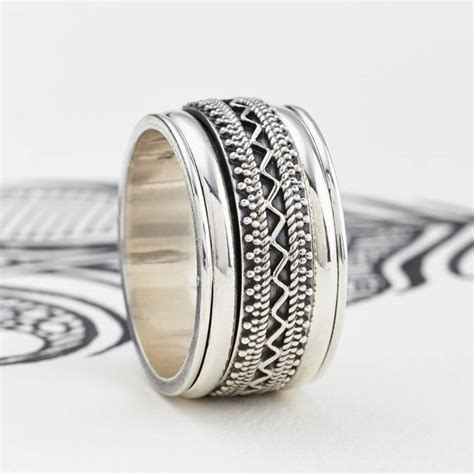 s jaipur silver spinning ring by s web