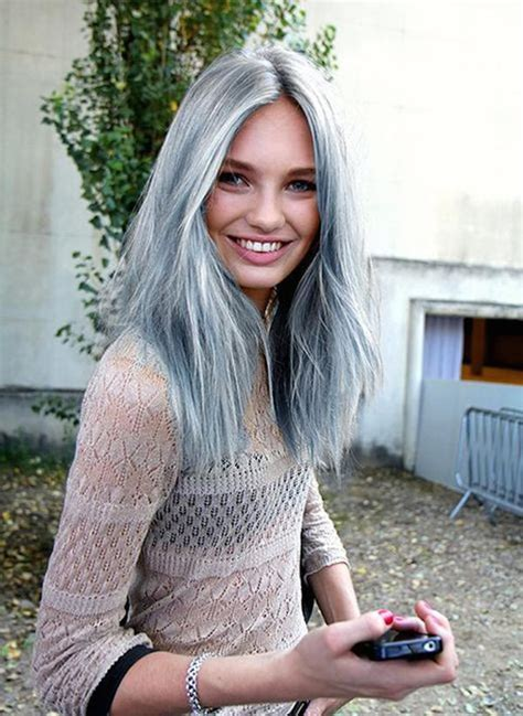 young people with grey hair hairstyle lincesas con canas sexis taringa