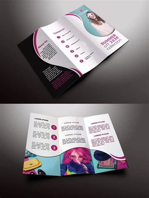 fashion brochure templates fashion tri fold brochures brochure templates brochure