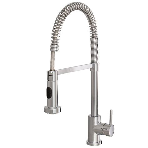 aquabrass kitchen faucets aquabrass wizard 30045 pc pull out kitchen faucet with