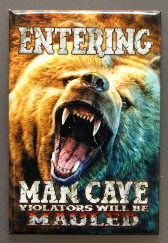 entering man cave violators   mauled refrigerator