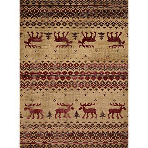 moose area rugs embroidered moose area rugs