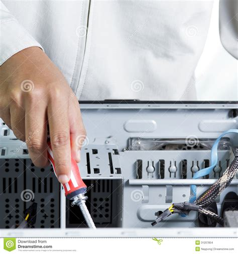 Hardware Technician by Technician Computer Stock Images Image 31207854