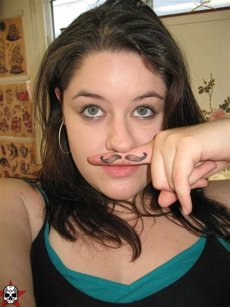 mustache finger tattoo pictures ideas mustache finger